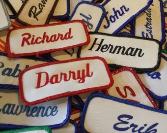 vintage name badges 143 total