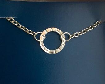 Simple Silver Charm Bracelet