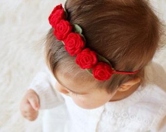 Felt Rose Crown