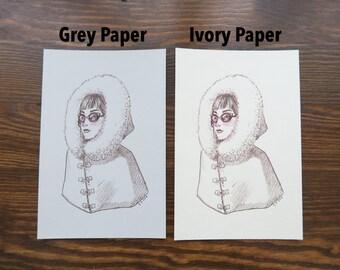 SKETCH PRINTS - 4x6 (Small) - You choose paper color!