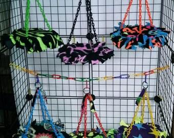 Sugar glider hanging trampolines