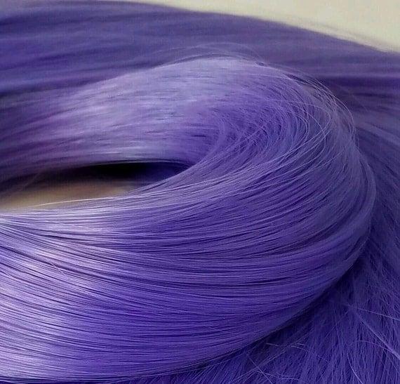 NEW! Psylocke Lilac Purple Nylon Doll Hair Hank Rerooting Barbie Monster High, Ever After, Crissy, FR Blythe Dawn Rehair My Little Pony
