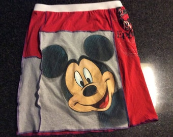 T-Shirt Skirt, Womens' Large, Mickey Mouse