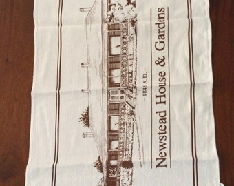 Linen & Cotton Tea Towel - Newstead House, Brisbane 1846