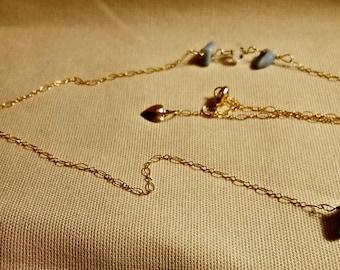 Amazonite and Herkimer Diamond Necklace