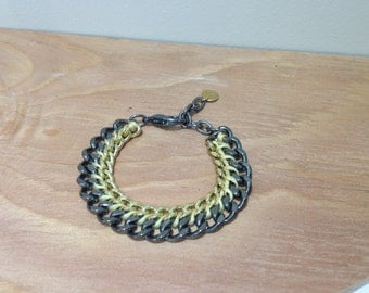 Woven and Braided chain bracelet