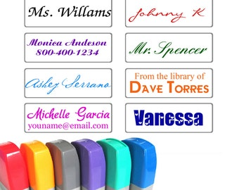 Custom Self Inking stamp - Personalized signature stamp - business company stamp - custom name stamp - rubber stamp - pre ink stamp