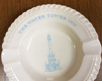 Ceramic ash tray from Chicago's Water Tower Inn