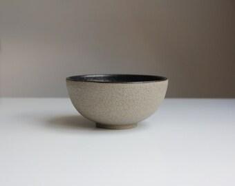Unique. Ceramic bowl, stone colors, hand-turned.