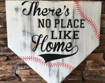 There's No Place Like Home Sign, Home Plate Sign, Baseball Sign, Softball Sign