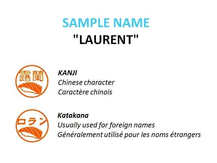 Personalized Japanese Name Stamp Sushi