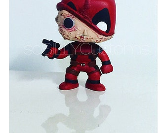 Deadpool Custom Unmasked Pop