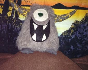 Happy Shaggy Grey Monster