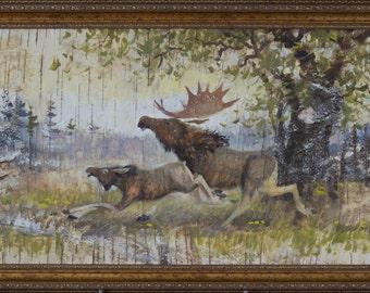 birch bark 80x38 cm.