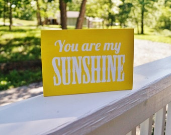 Shabby Chic You Are My Sunshine Sign/ Nursery/Kids Room