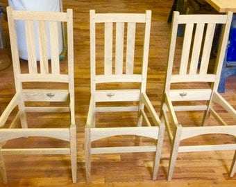 White Oak Dining Room Chairs