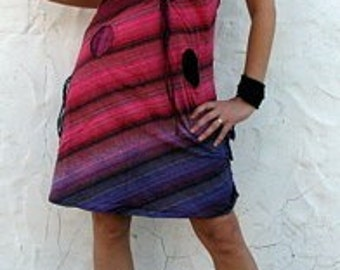 Cotton - Festival - Stripe - Dress