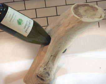 Freestanding/Balacing (Driftwood) Wine Bottle Holder