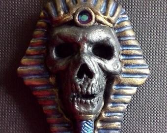 Mummy, pharaoh, polymer clay pendant, egyptian