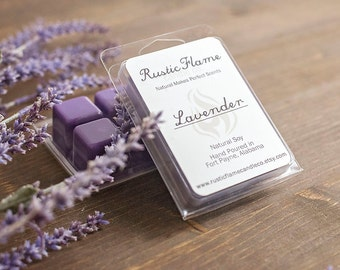 Lavender Scented Wax Melts - Soy Candle Melts - Candle Tart Melts - Floral Scented Melts - Aromatherapy Candle Melts - Wax Warmer Melts