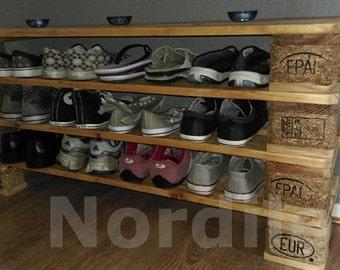 Pallet furniture shoe rack No.. 2