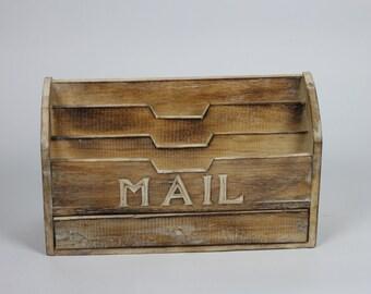 Handmade Shabby Chic Large Wooden Letter Rack