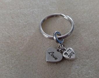 Love My Dog Keychain