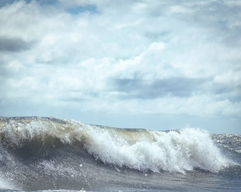"""Photograph Of A Wave Breaking In The Atlantic Ocean 8x10 - Fine Art Luster Print - """"Beach Bound"""""""