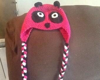 Pink panda hat