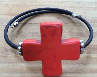 Red cross bracelet