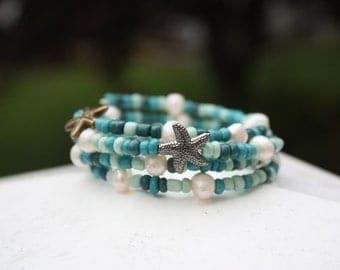 Starfish Beach Wrap Bracelet