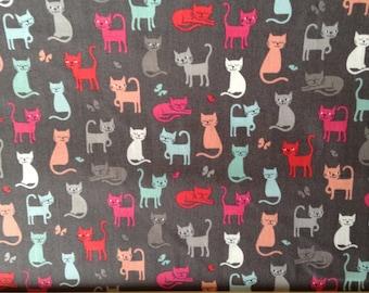 Makower cats fabric 1 metre