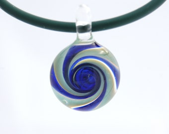 Glass jewelry necklace, hand blown glass pendant necklace, galaxy glass pendant, unique pendant for her