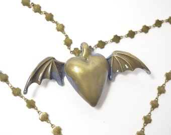 Gothic Necklace Cold Cast Resin