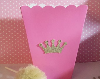 12 Pcs - Princess birthday party favors , crown party favor, pink and gold birthday party