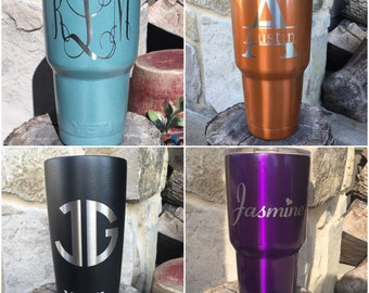 NEW Authentic YETI or Ozark Rambler Custom Powder Coated Many Colors Custom Name Monogram Etch