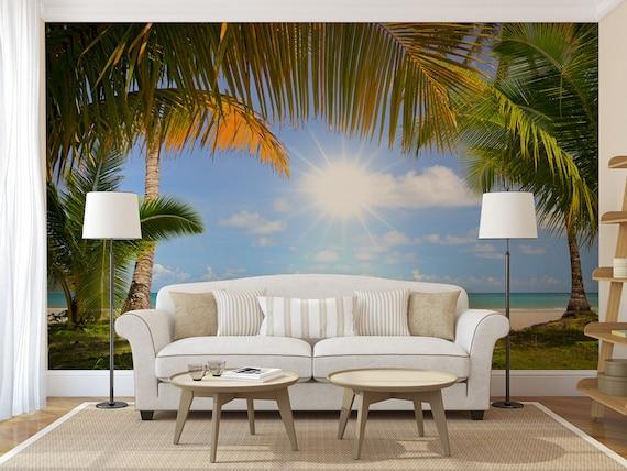Tropical Beach Wall Mural Self Adhesive Photo Mural