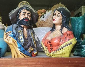 Vintage Pirate Ceramic Bust