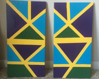 A Pair of Multicolored Triangles