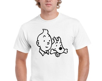 T-Shirt Tintin draw
