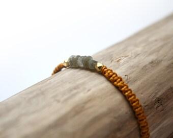MILA yellow braided bracelet