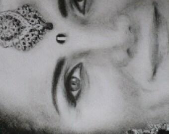 custom charcoal portrait