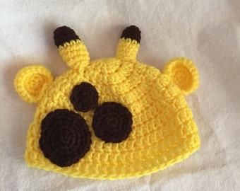Giraffe hat, halloween costume, giraffe costume, winter hat, baby hat