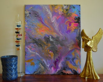 Original Abstract Acrylic Poured Painting