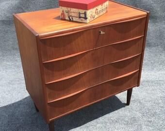 Danish Modern Chest of Drawers Short Boy Dresser