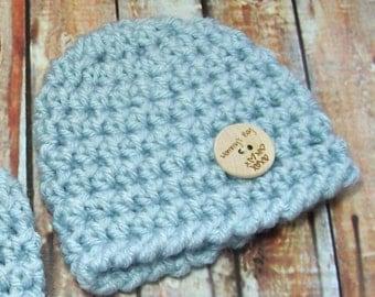 Preemie Baby Boy Hat, Newborn Beanie, Daddy's Boy, Mommy's Boy, I'm On the Grow Baby Hat, New Baby Gift, Free US Shipping