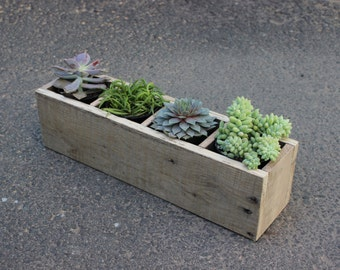 Succulent Planter, reclaimed wood planter, rectangle planter