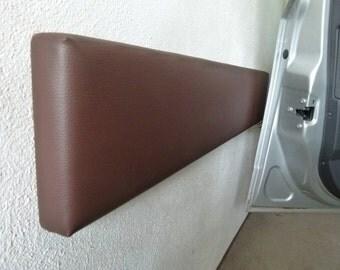 Car door guard, garage wall protection, door edges, 100 x 20 cm black or brown