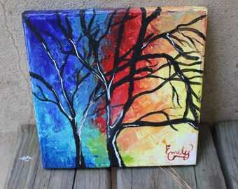 Abstract Palette Knife Painting -- Original Artwork