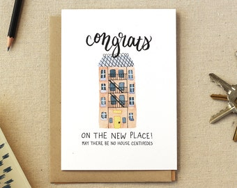 Housewarming Illustrated Card: Apartment